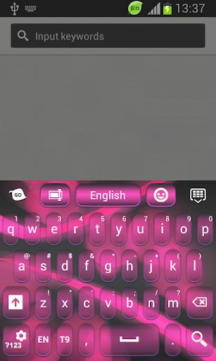 粉紅色霓虹燈彩色鍵盤
