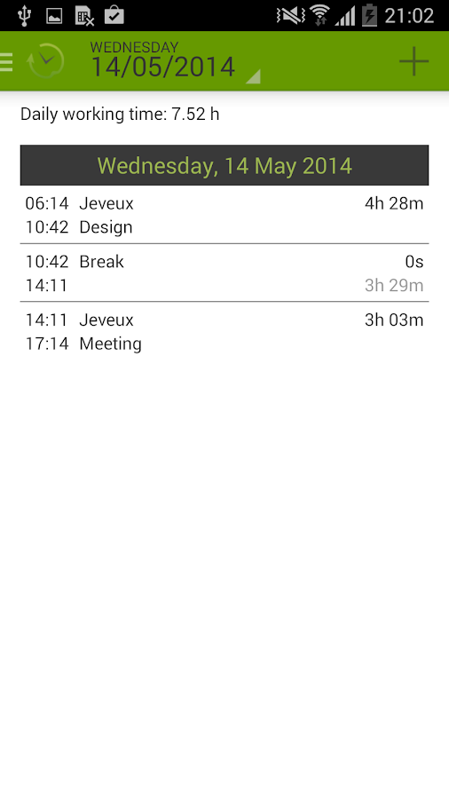TimePunch Mobile - screenshot