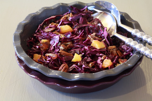 Red Cabbage Salad with Dry Fruit and Orange Recipe