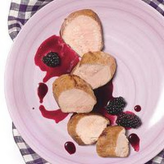 Pork Tenderloin with Spicy Red Wine-Blackberry Sauce.
