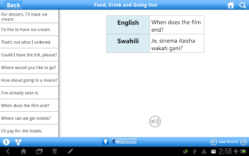 Learn Swahili by WAGmob - screenshot thumbnail