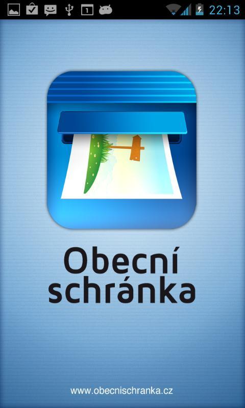 Obecní schránka- screenshot