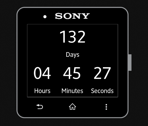 Countdown for SmartWatch 2
