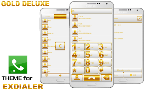 ExDialer Theme Gold WHITE
