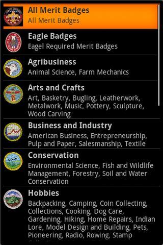 Boy Scout Merit Badges - screenshot