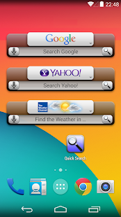 Quick Search Widget (free) - screenshot thumbnail