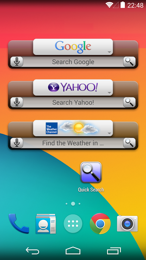 Quick Search Widget (free) - screenshot