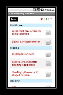 Newborn Baby Checklist - screenshot thumbnail