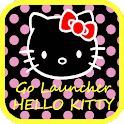 Go Launcher Hello Kitty Black