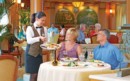Sabitinis-restaurant-Princess-Cruises - Enjoy Mediterranean fare and attentive service at Sabitini's Italian Restaurant aboard your Princess ship.