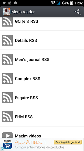Men's magazines rss-reader