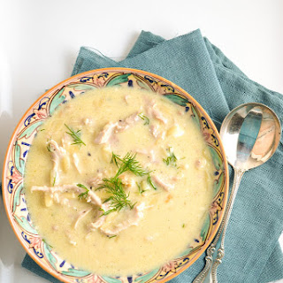 Avgolemono {Greek Comfort Soup}