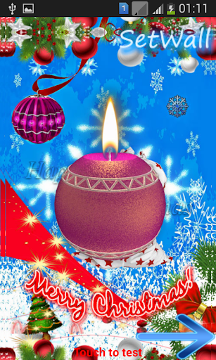 3D Candle Christmas