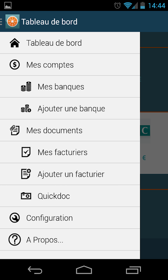 Moneydoc finance budget factur- screenshot
