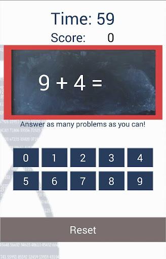 数学抽认卡的孩子们