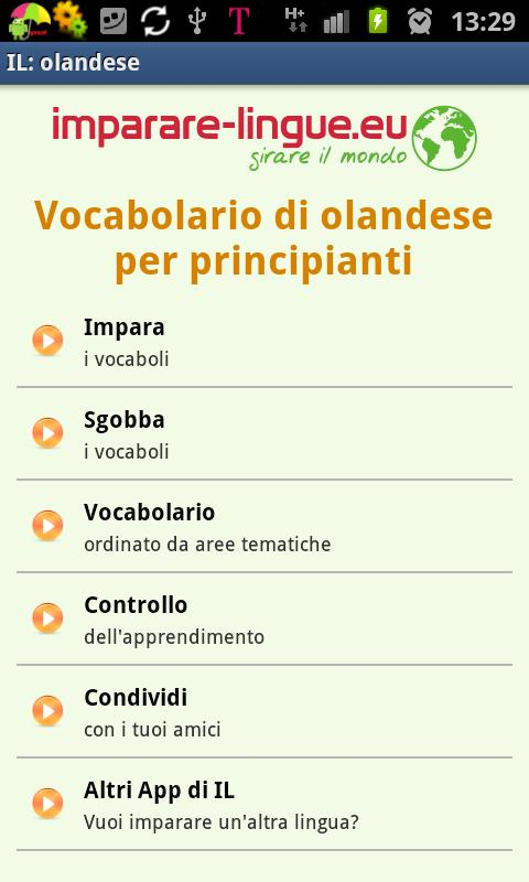 Imparare l'olandese- screenshot
