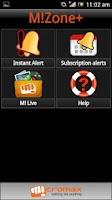 Screenshot of MiZONE+