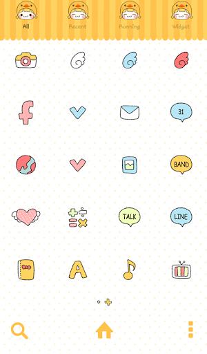 玩個人化App|나나(러브러브덕) 도돌런처 테마免費|APP試玩
