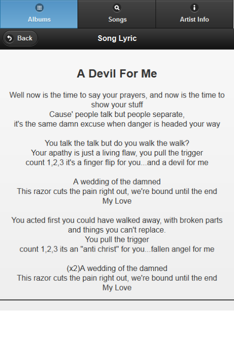 Black Veil Brides All Lyrics - screenshot