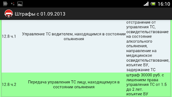 Штрафы с 01.09.13 - screenshot thumbnail