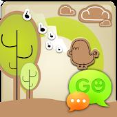 GO SMS Pro Retro Bird Theme
