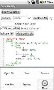 Syntax Highlighted Code Editor screenshot 2
