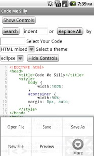 Syntax Highlighted Code Editor- screenshot thumbnail