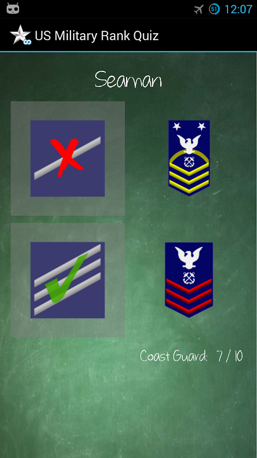 US Military Rank Quiz- screenshot