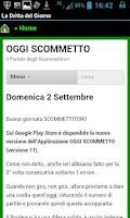 Screenshot of Oggi Scommetto