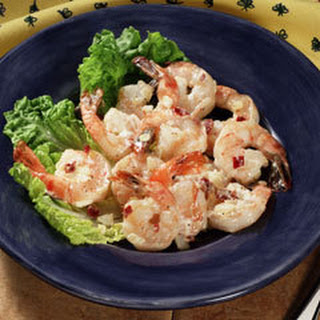 Sauteed Shrimp With Chipotle Sauce.