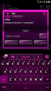 GO SMS Pink Platinum Theme- screenshot thumbnail