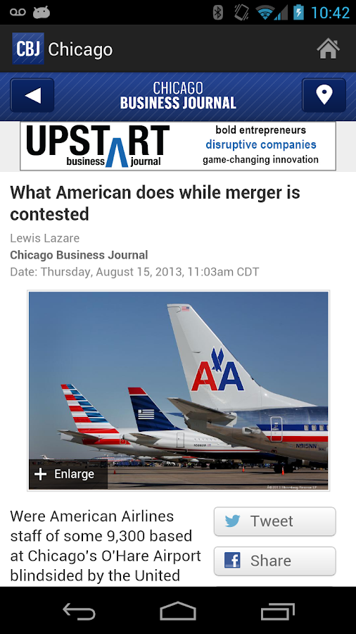 Chicago Business Journal - screenshot