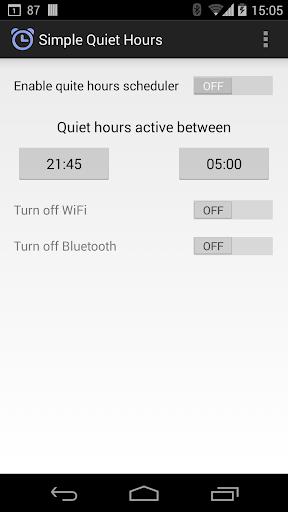Simple Quiet Hours