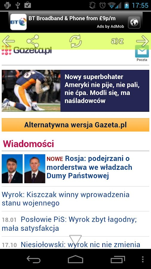 Polish Newspapers - screenshot