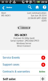 HP Enterprise Support Center - screenshot thumbnail