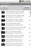 Screenshot of CanonLenses