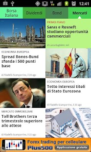 News finanza e borsa italiana - screenshot thumbnail