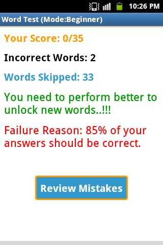 Word Learner Vocab Builder GRE- screenshot