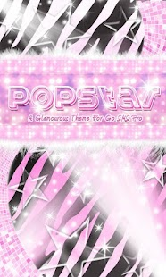 Pop Star Theme Pink Zebra SMS - screenshot thumbnail