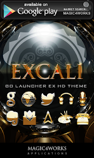 Excali GO Locker theme - screenshot thumbnail