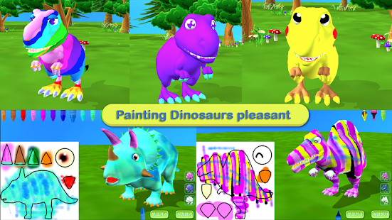 Dinosaur Coloring 3D - AR- screenshot thumbnail