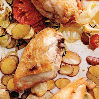 Chicken with Provencal Vegetables.