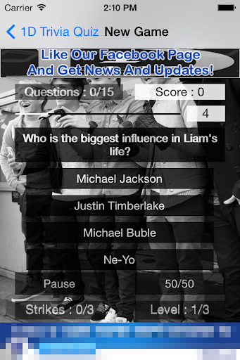 1D - One Direction Trivia Quiz