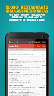 Seamless Food Delivery/Takeout - screenshot thumbnail