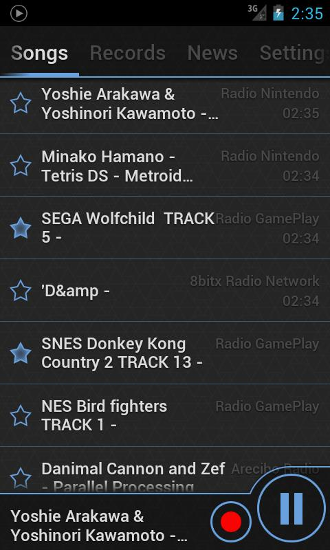 Game Music Radio - 8bit sound - screenshot
