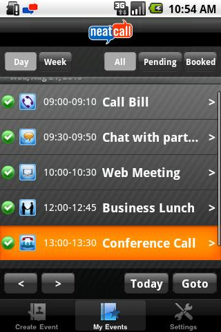 Neatcall Scheduler & Initiator - screenshot