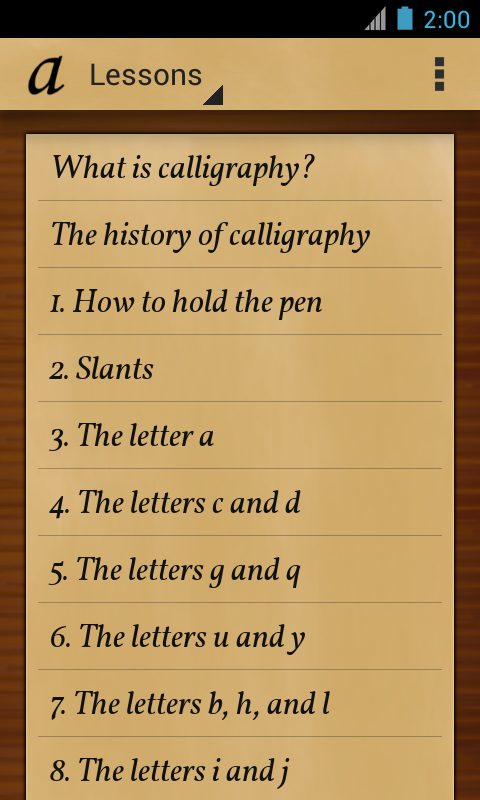 Calligraphy Teacher Pro Android Apps P Google Play