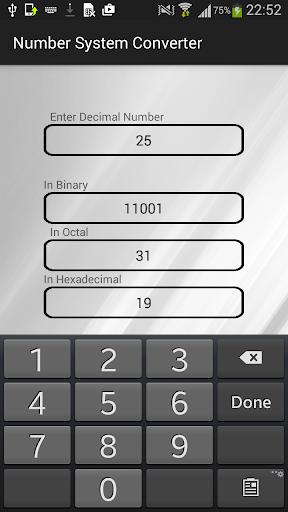 Number system converter