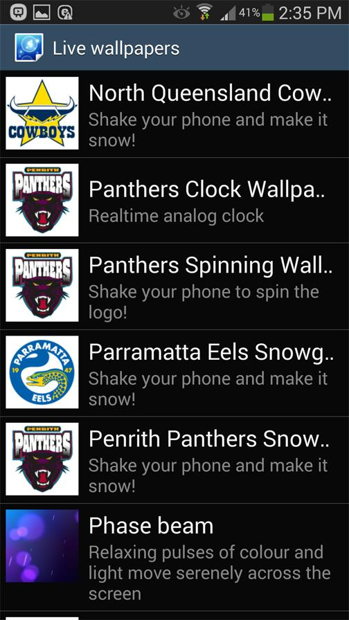 North Queensland Cowboys Snow- screenshot
