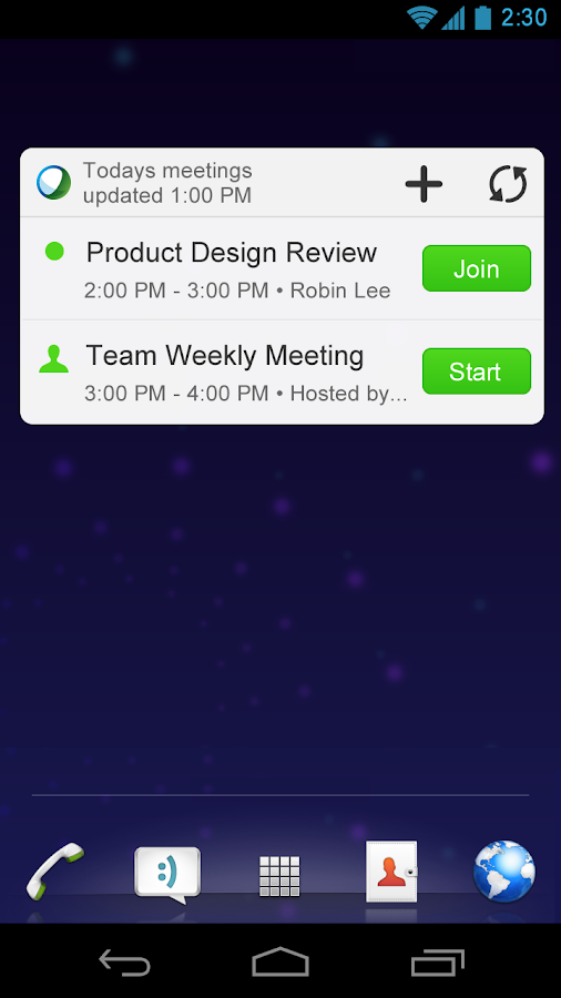 Cisco WebEx Meetings- screenshot